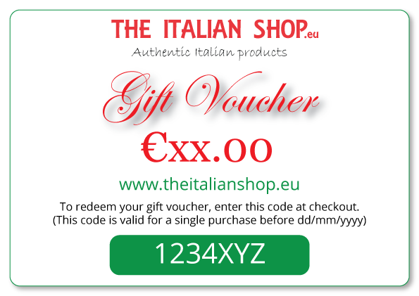Gift vouchers Italian gifts, Italian products gift vouchers, ideas for presents from italy