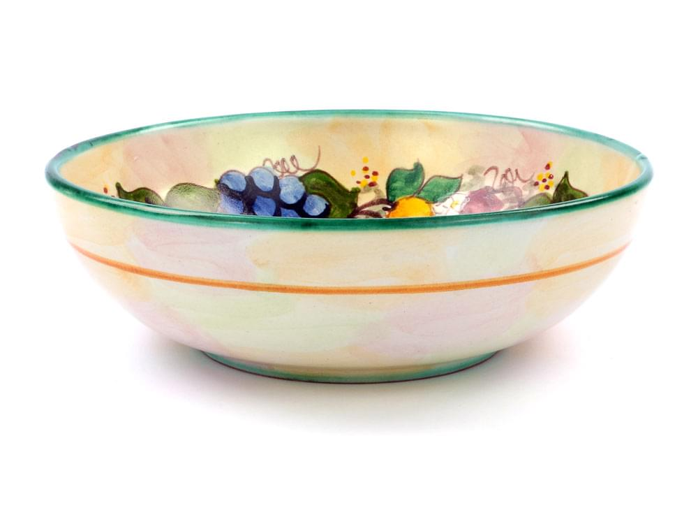 Ceramics Large Bowl - Fruit Harvest - Green