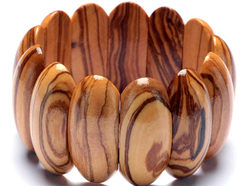 Large Oval Bead Bracelet - showing detail of the beads and grain