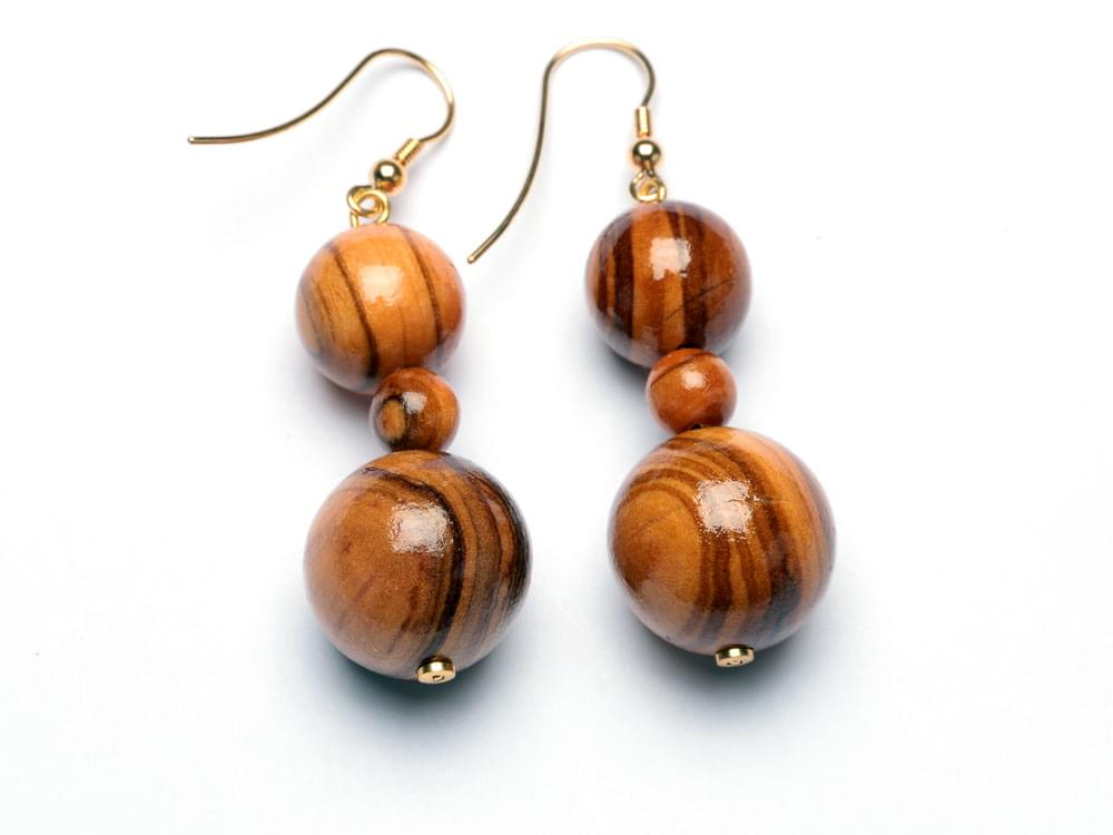 Classic earrings - olive wood earrings