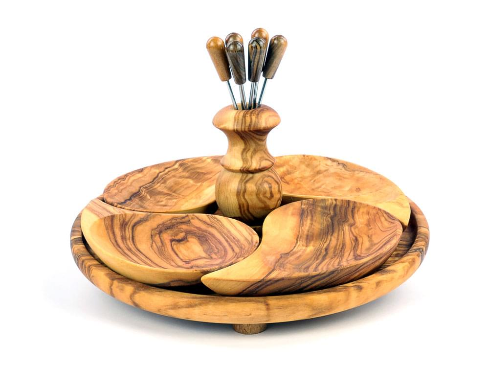 Olive Wood Aperitvo Set - view 2