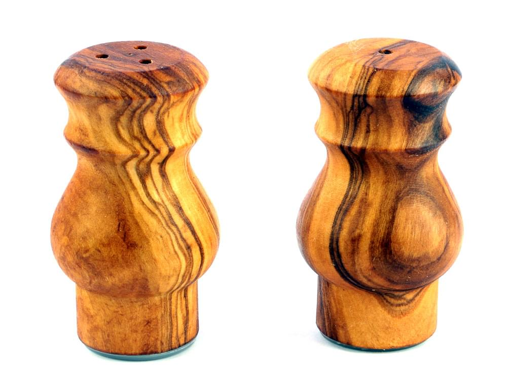 The Olive Wood Salt & Pepper Pots