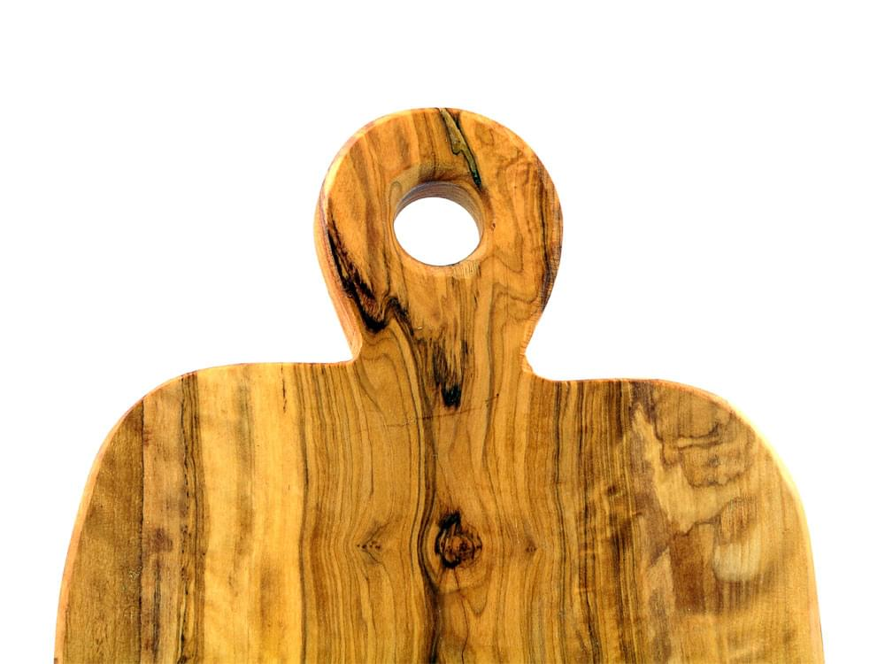 Large Olive Wood Chopping Board - detail of handle