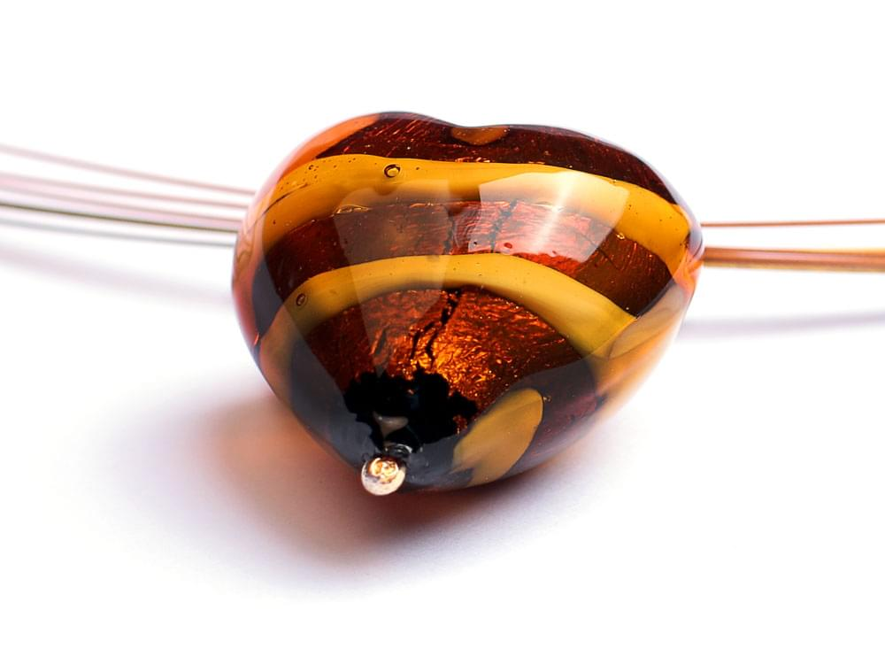 Cuore di Tigre - detail of the Murano glass heart
