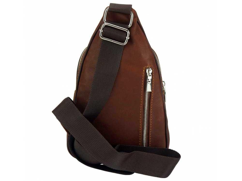 Messina (brown) - back view showing the single strap