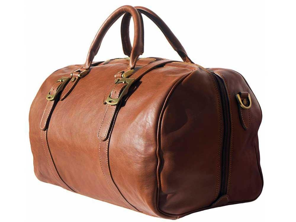 Latina (tan) - genuine Italian leather travel bag - without the shoulder strap