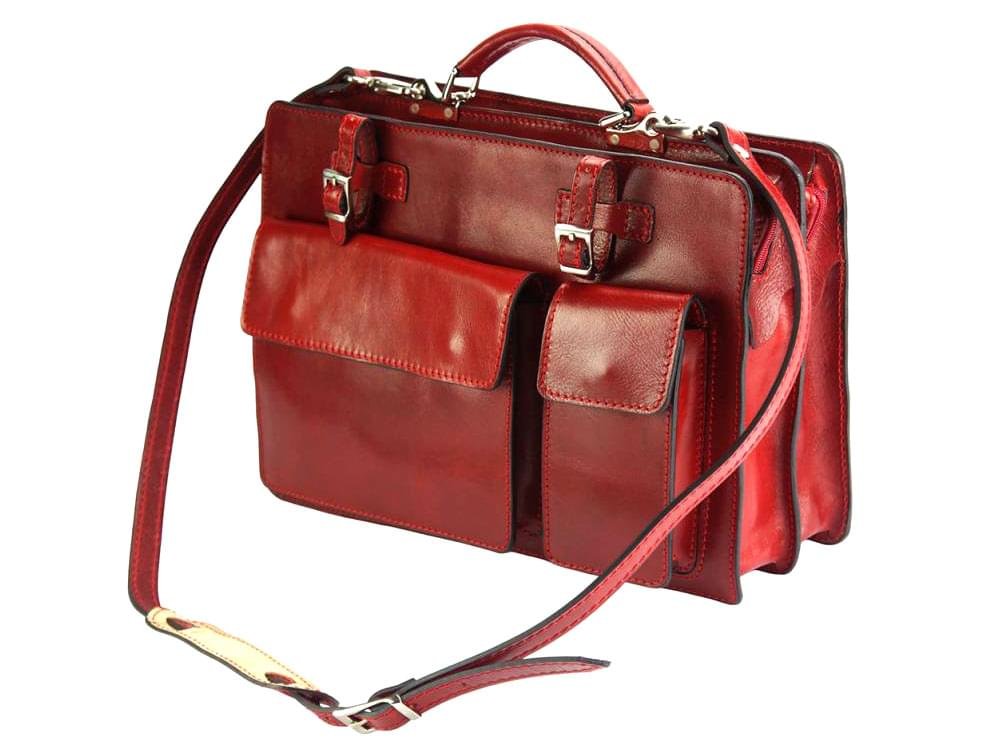Business Bags Viterbo (red) - Practical and durable briefcase