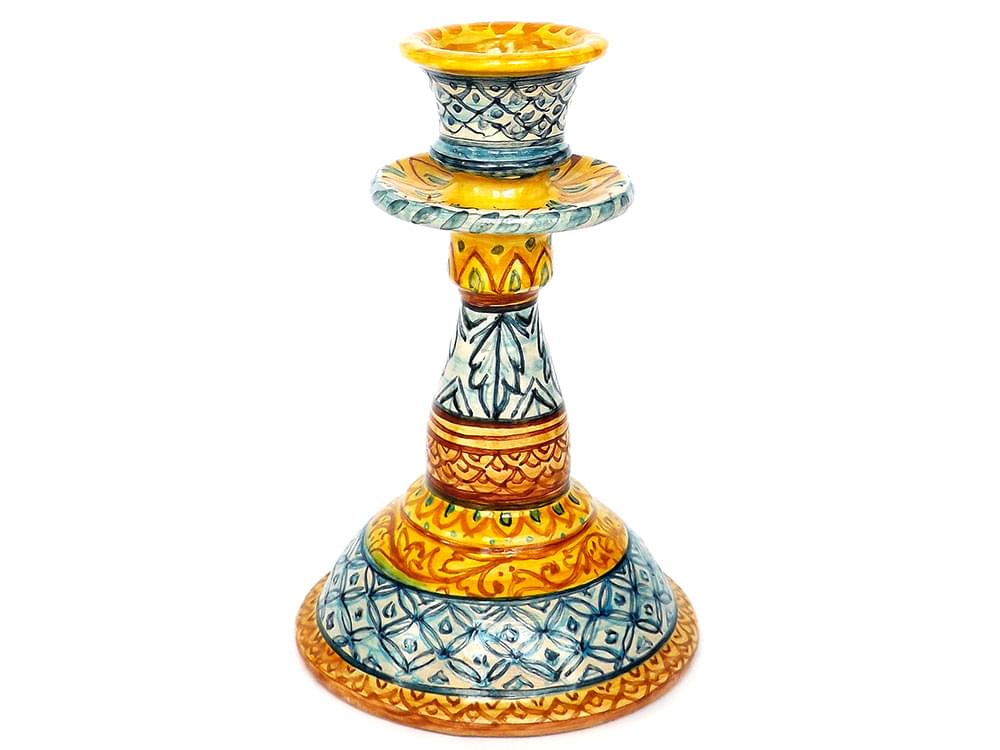 Ceramic candlesticks, Italian candlesticks, decorative candlesticks