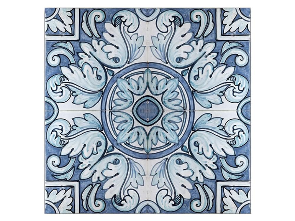 Italian hand painted ceramic tiles