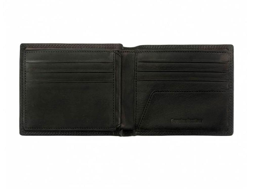 Mens Wallets Davide (black) - Luxury vintage leather wallet