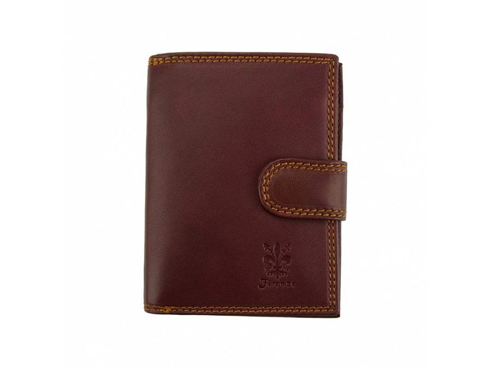 Leather women's billfolds from Italy