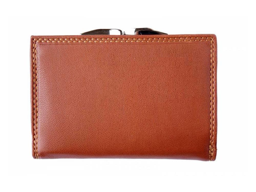 Elena - tri-fold, feminine leather wallet - back view