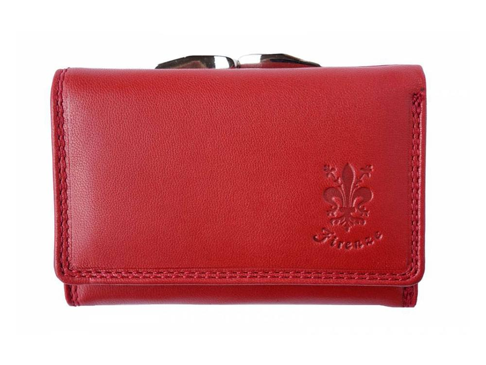 Elena - tri-fold, feminine leather wallet - front view