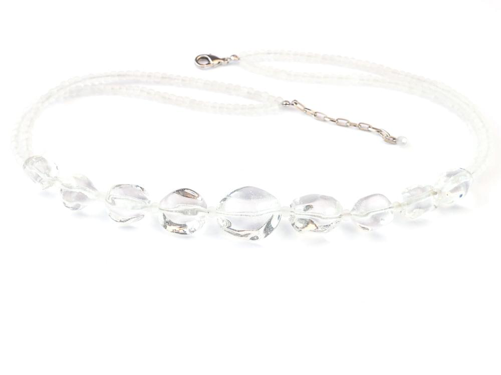 Cristalli - clear, Murano glass necklace which will gently reflect the colours of your outfit