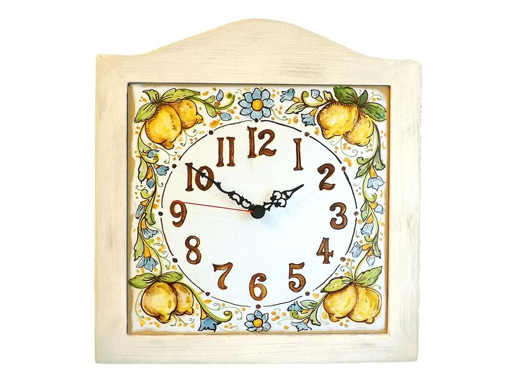 Sicilian clocks, hand painted ceramic clocks
