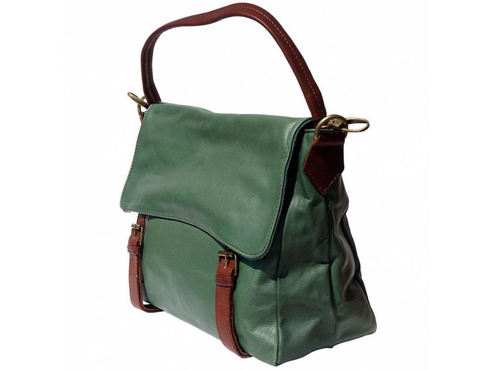 Elba - soft leather satchel style bag - side view