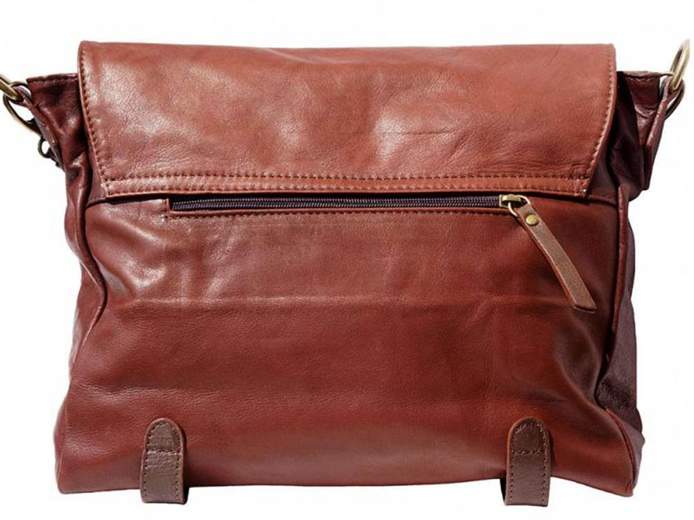 Elba - soft leather satchel style bag - back view