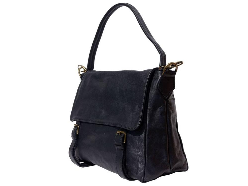 Elba - soft leather satchel style bag