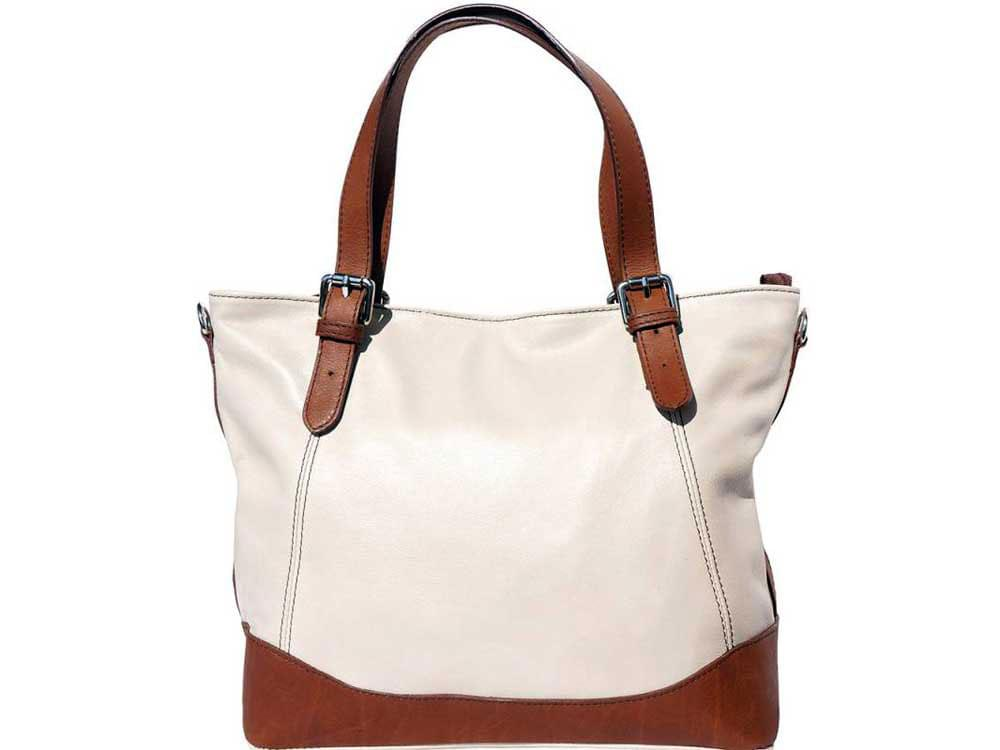 Otranto - tote bag in soft Italian calf leather - front view