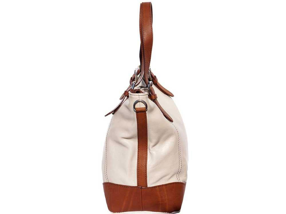 Otranto - tote bag in soft Italian calf leather - side view