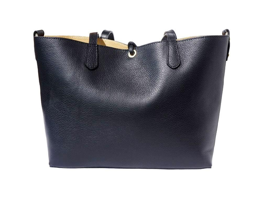 Vernazza - soft, grainy leather tote bag -back view