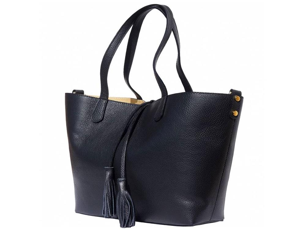 Vernazza - soft, grainy leather tote bag