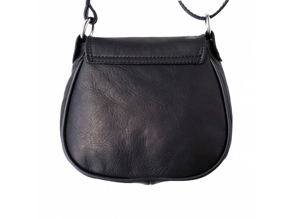 Lodi - soft leather cross-body bag with a long strap - back view