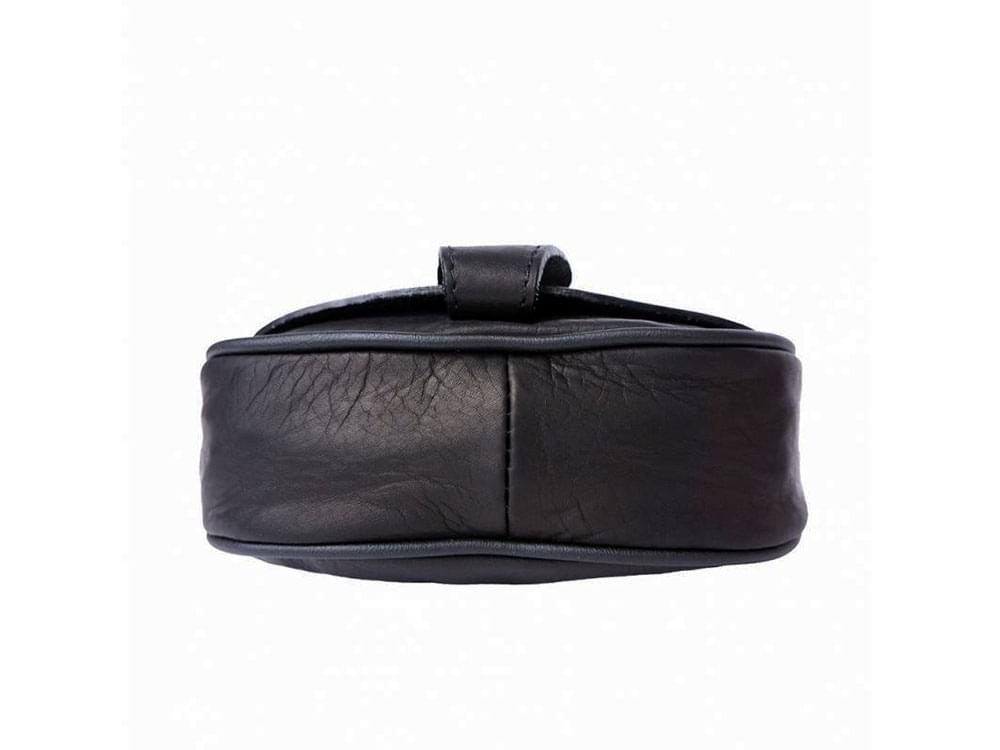 Lodi - soft leather cross-body bag with a long strap - showing the base