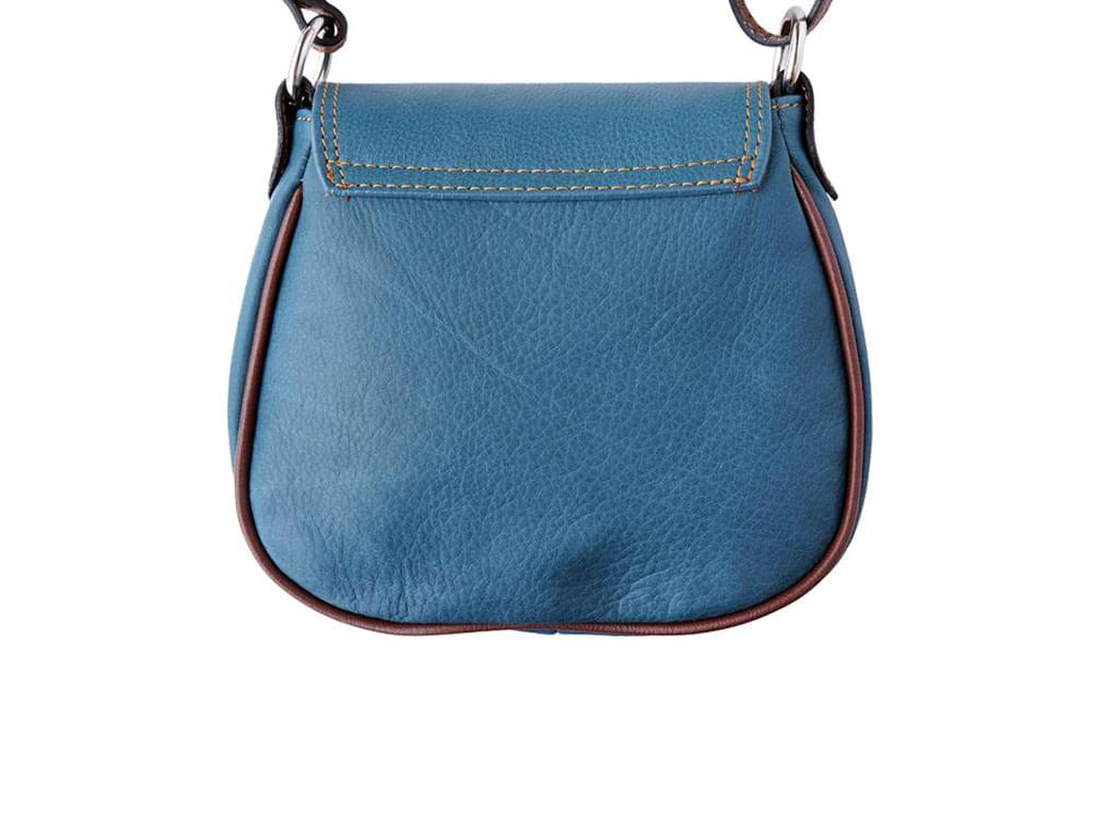 Lodi - soft leather cross body bag with long strap - back view
