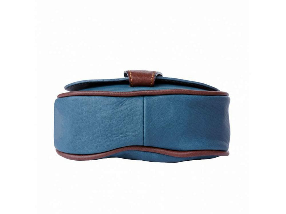 Lodi - soft leather cross body bag with long strap - showing the base