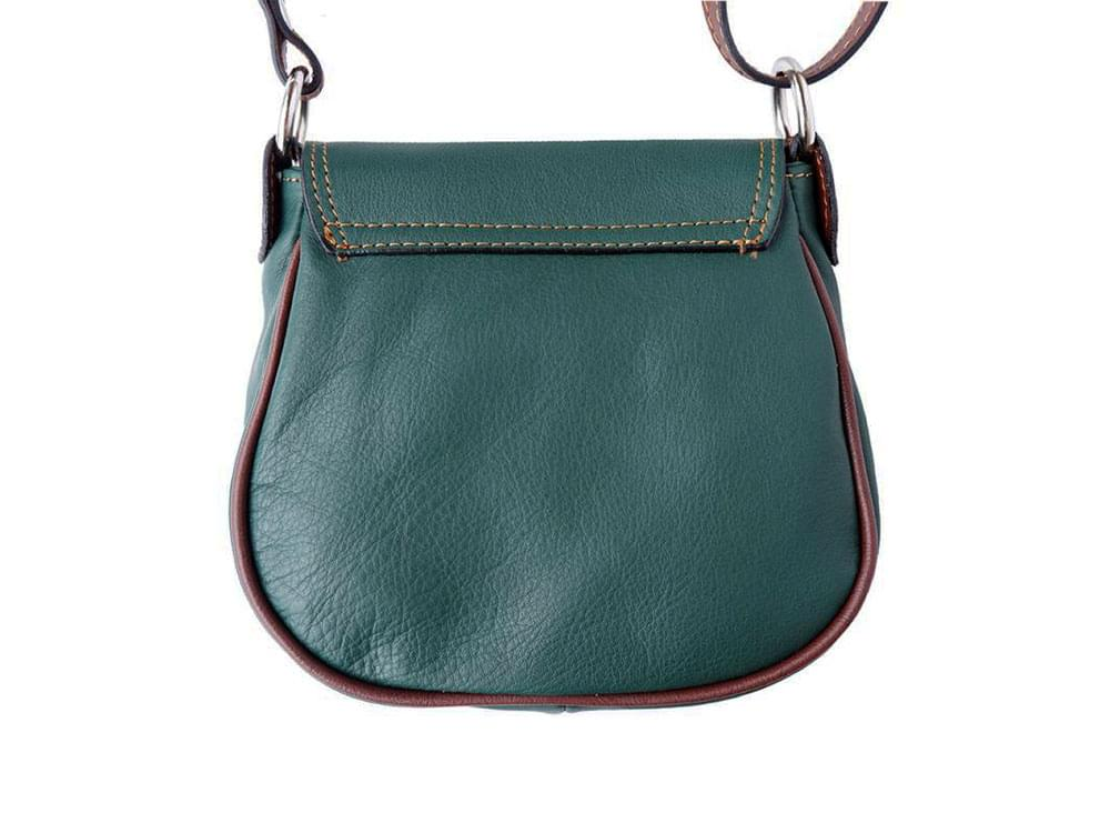 Lodi - soft leather cross-body bag with long strap - back view