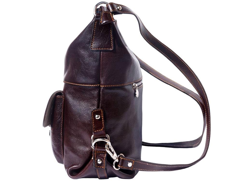 Spoleto - multifunctional and stylish bag - side view with the straps in the backpack configuration