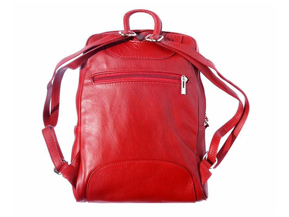 Matera - a sleek, sporty, leather backpack - back view