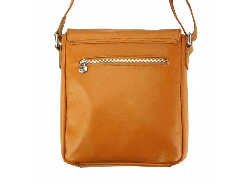 Forli - smooth leather messenger bag - back view