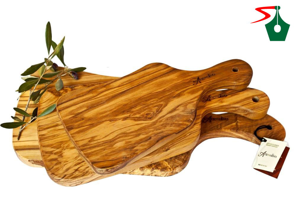 Olive wood articles from Italy