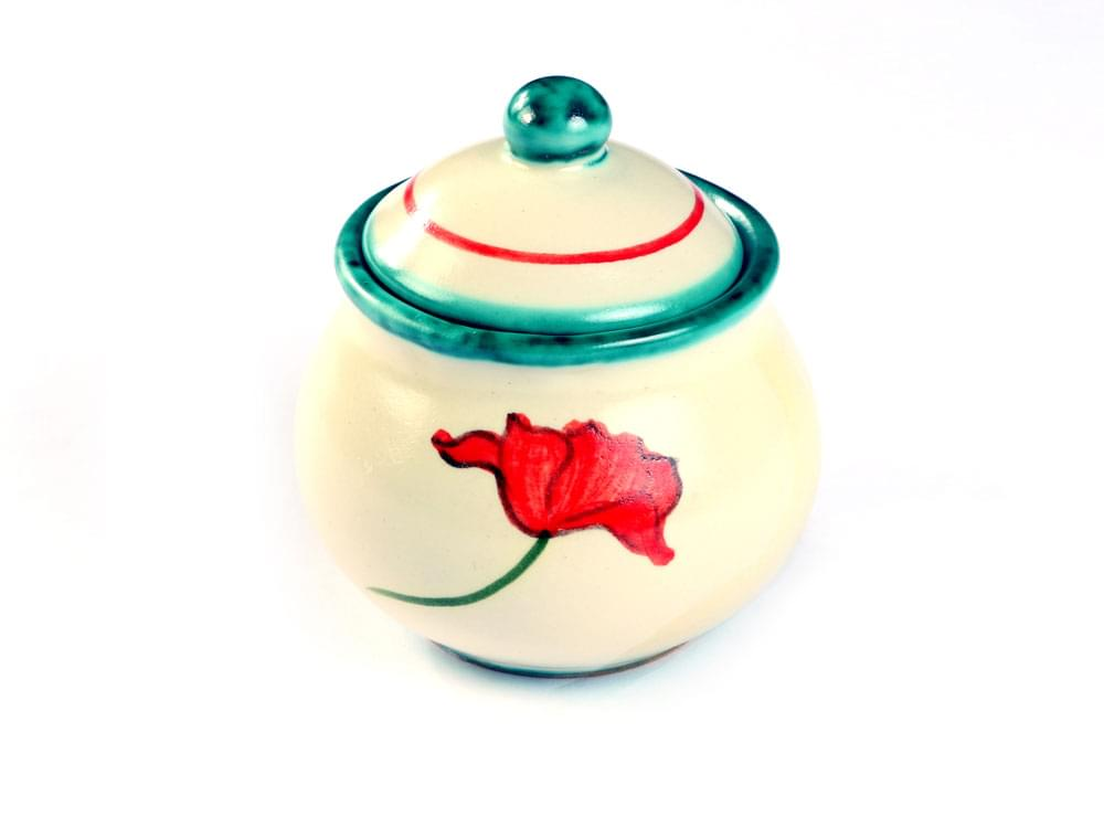 Poppy Espresso Set - sugar bowl with lid on