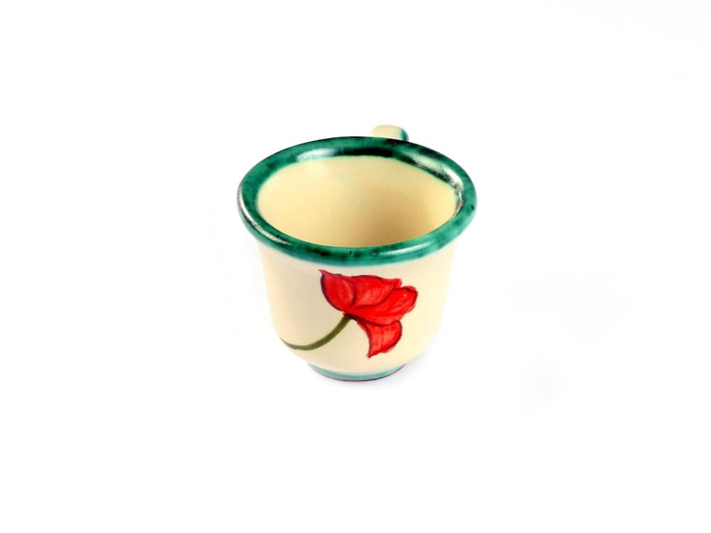 Poppy Espresso Set - coffee cup, front view