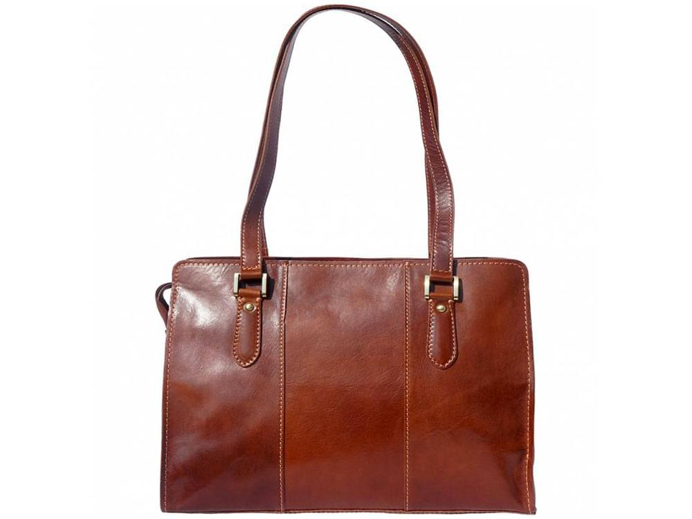 Veruno - legant, high quality leather shoulder bag - front view