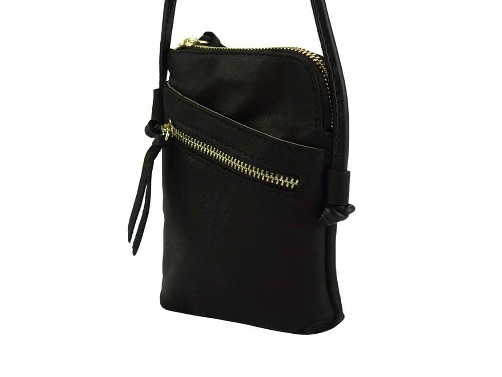 Fenis - compact leather cross-body bag for men - front view