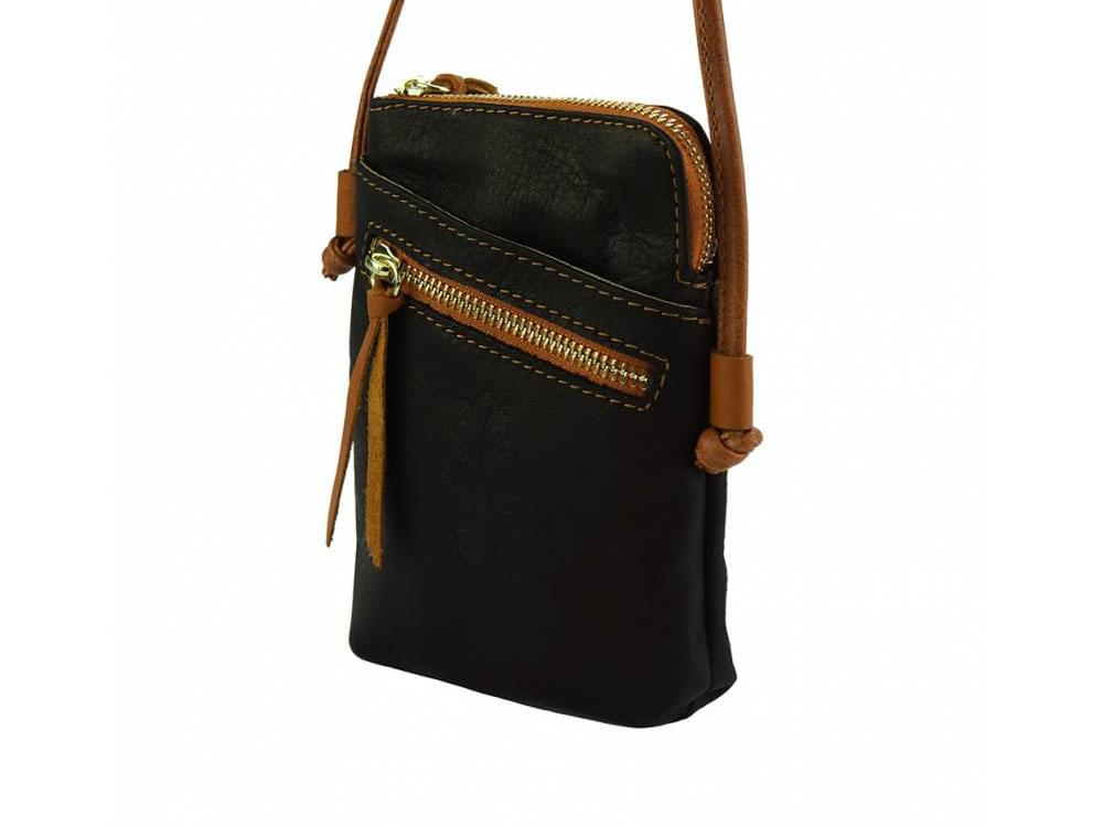 Fenis - compact leather cross-body bag for men