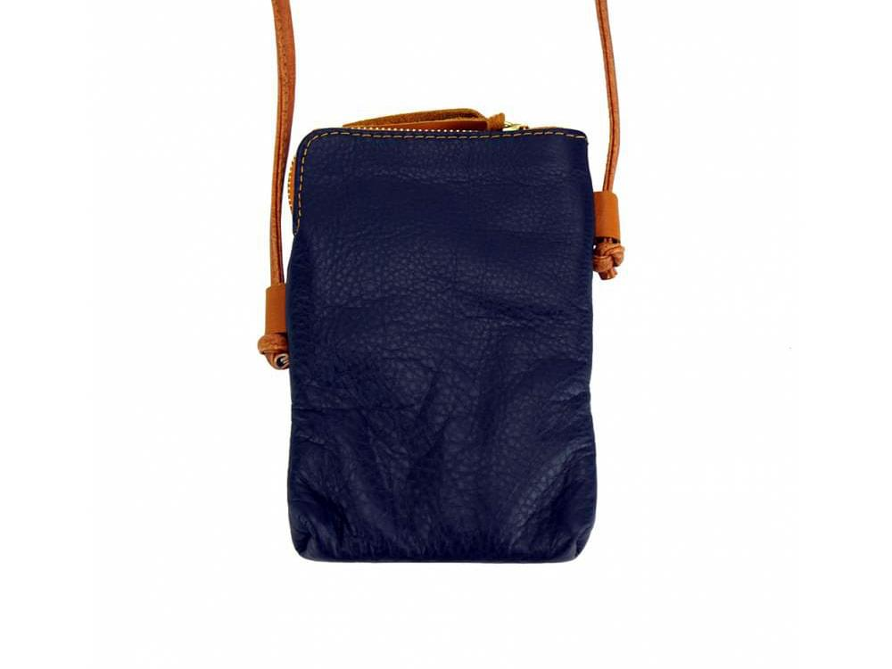 Fenis - compact leather cross-body bag for men - back view