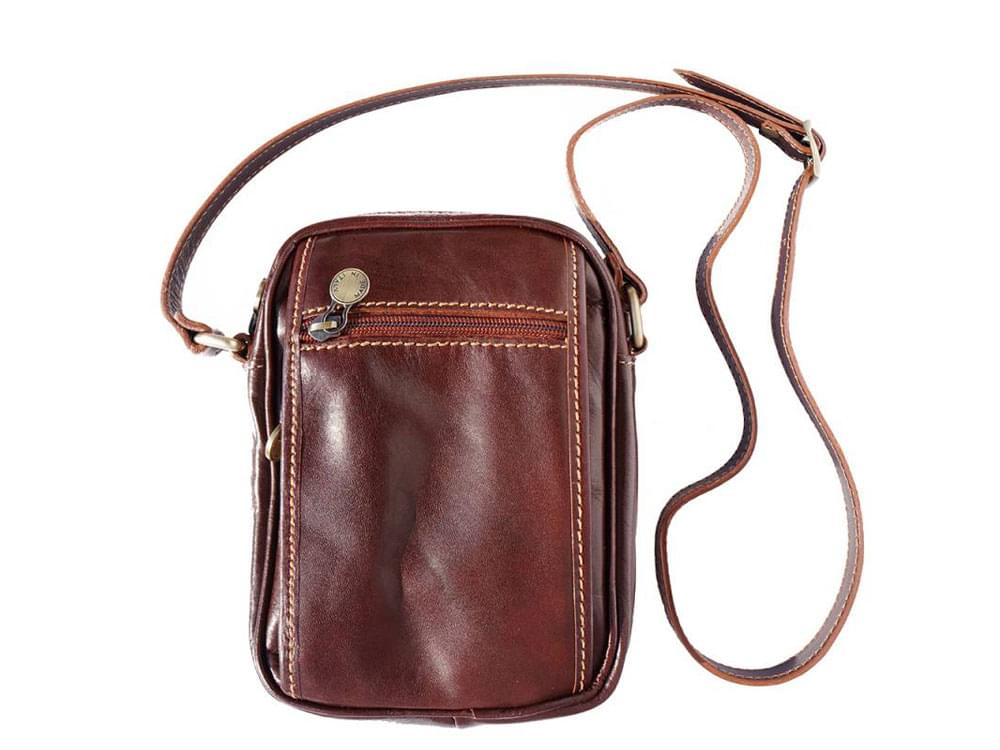 Usini - high quality leather shoulder bag for men - front view