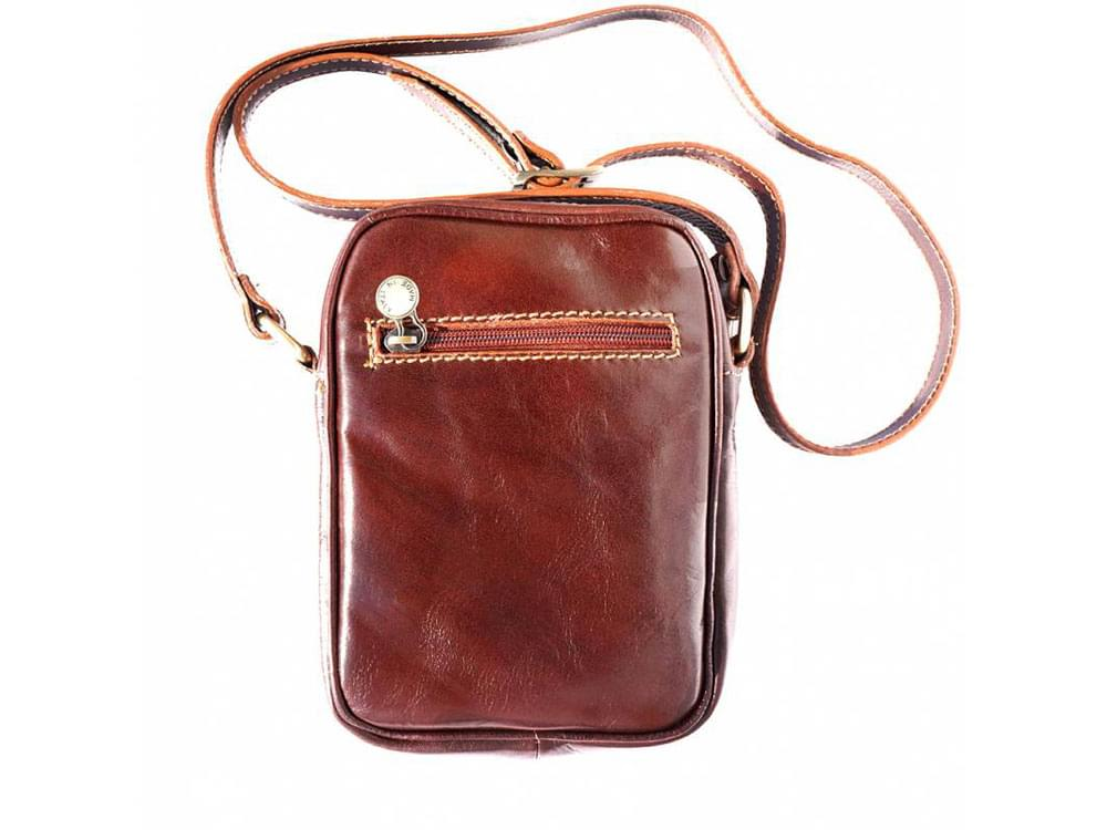 Usini - high quality leather shoulder bag for men - back view