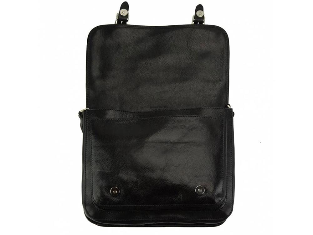 Teora - elegant and practical messenger bag - with the front flap raised
