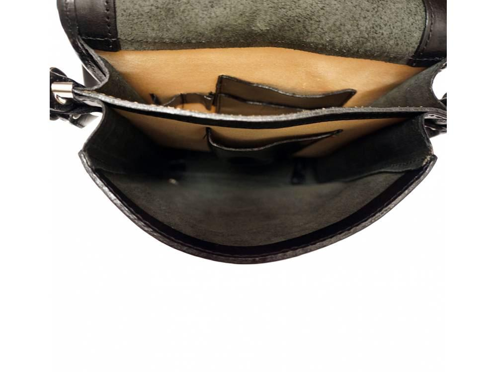Padula - small, calf leather shoulder bag - showing inside