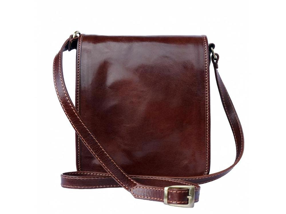 Padula - small, calf leather shoulder bag - front view
