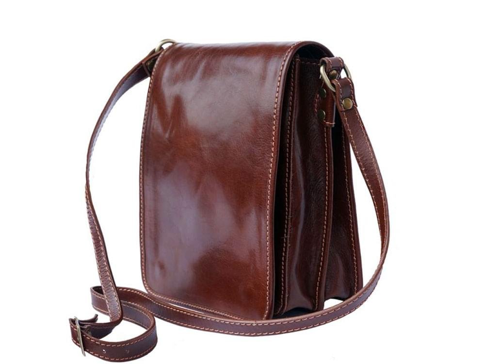 Padula - small, calf leather shoulder bag - side view