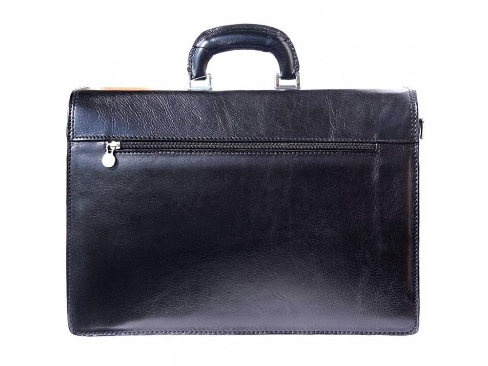 Potenza - rigid calf leather business bag - back view