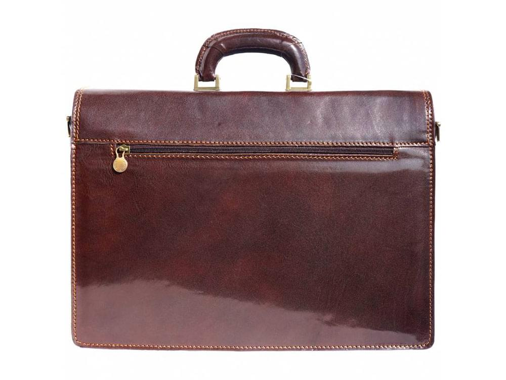 Potenza - rigid calf leather business bag - front view