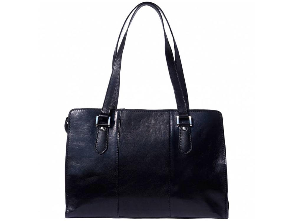 Veruno - elegant, high quality leather shoulder bag - front view